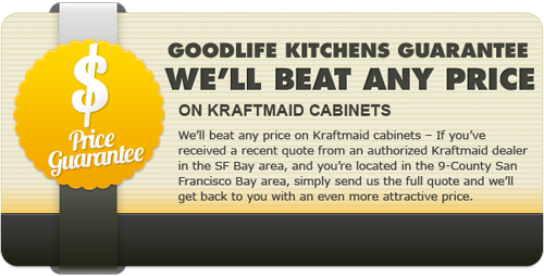 Price guarantee on KraftMaid cabinets