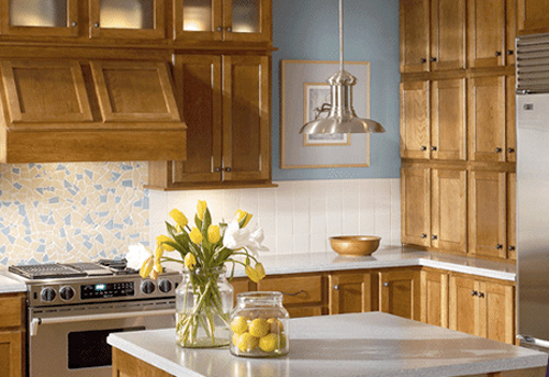kraftmaid cabinets natural and warm style