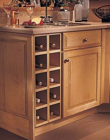 kitchen cabinet wine rack plans